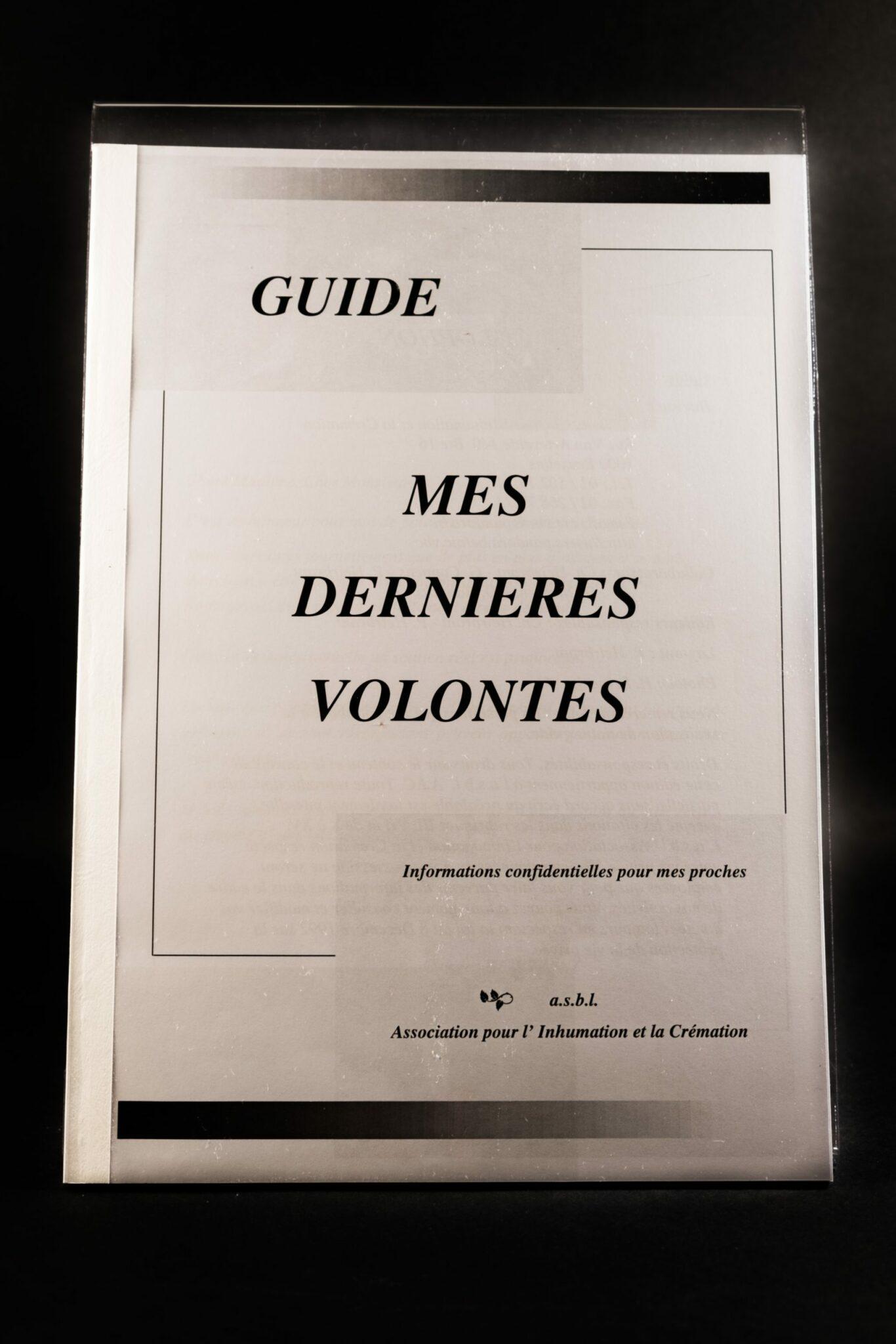 Guide Mes Dernières Volontés Heirbrant pompes funèbres
